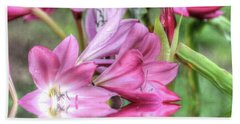 Pink Lily Flood Hand Towel