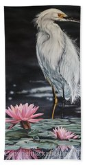 Pink Lily Bath Towel