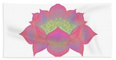 Pink Lotus Bath Towel by Elizabeth Lock