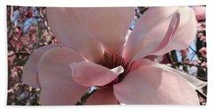 Pink Magnolia In Full Bloom Bath Towel by Dora Sofia Caputo Photographic Art and Design