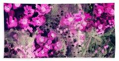 Pink Majestic Garden- Art By Linda Woods Hand Towel