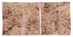 Pink Nesting Box Bath Towel by Bonnie Bruno