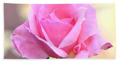 Pink On Pink Rose Hand Towel