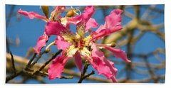 Pink Orchid Tree Bath Towel by Carla Parris