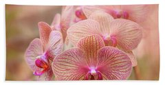 Pink Orchids Bath Towel by Robert FERD Frank