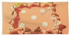 Pink Pastel Fashion Celebration Bath Towel