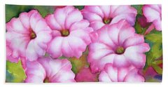 Pink Petunias Hand Towel