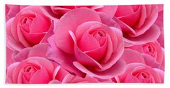Pink Pink Roses Hand Towel