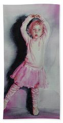 Pink Pirouette Hand Towel