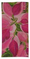 Pink Poinsettia Bath Towel