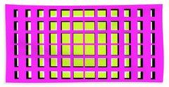 Pink Polynomial Bath Towel