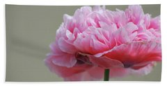 Bath Towel featuring the photograph Pink Poppy by Amee Cave
