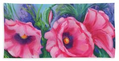 Pink Poppy Field Bath Towel