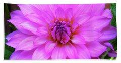 Bath Towel featuring the photograph Pink Purple Dahlia Flower by Kristen Fox