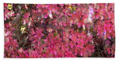 Pink Rhododendron Hand Towel
