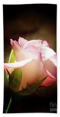 Pink Rose 2 Bath Towel by Inspirational Photo Creations Audrey Woods