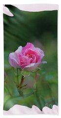 Pink Rose Hand Towel by Elaine Hunter