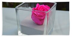 Pink Rose In Venice Hand Towel