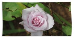 Bath Towel featuring the photograph Pink Rose by Jerry Battle