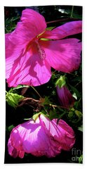 Pink Rose Mallow In Colorado Hand Towel