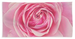 Pink Rose Petals Hand Towel by Melanie Alexandra Price