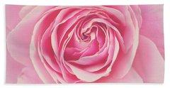 Pink Rose Petals Bath Towel