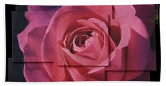 Pink Rose Photo Sculpture Hand Towel