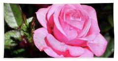 Pink Rose Hand Towel by Ronda Ryan