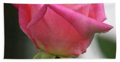 Pink Rose Squared Bath Towel