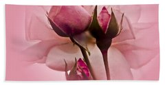 Roses In Pink Mist Hand Towel by Carol F Austin