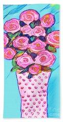 Pink Roses Hand Towel