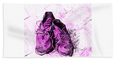 Bath Towel featuring the photograph Pink Shoes by John Stephens