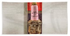 Pink Sparkplug On Box Bath Towel