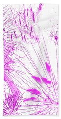 Hand Towel featuring the digital art Pink Splash Watercolor by Methune Hively