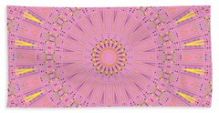 Bath Towel featuring the digital art Pink Sun by Joy McKenzie