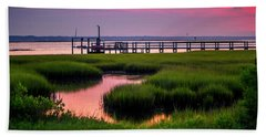 Pink Sunrise At Bogue Sound Bath Towel