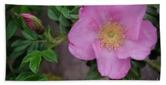 Pink Tea Rose Bath Towel