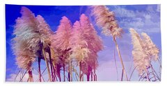 Pink Toi Toi Grasses Bath Towel