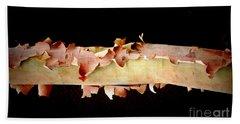 Pink Tree Bark Hand Towel by Lexa Harpell