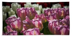 Pink Tulips Bath Towel