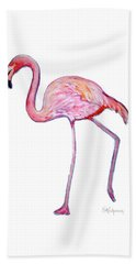 Pinky The Flamingo Bath Towel