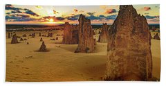 Hand Towel featuring the photograph Pinnacles 8 by Werner Padarin