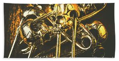 Bath Towel featuring the photograph Pins Of Horror Fashion by Jorgo Photography - Wall Art Gallery