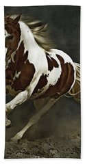 Pinto Horse In Motion Hand Towel