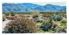 Pinyon Mtns Desert View Hand Towel by Daniel Hebard
