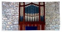 Pipe Organ Hand Towel by Stephanie Moore