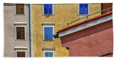 Hand Towel featuring the photograph Piran Colors - Slovenia by Stuart Litoff