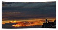 Hand Towel featuring the photograph Piran Slovenia Sunset #2 by Stuart Litoff