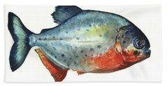 Piranha Fish Hand Towel