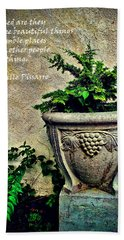 Pissarro Inspirational Quote Hand Towel by Joan  Minchak